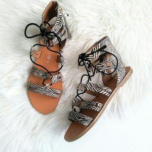 Dolce Vita lace-up gladiator sandals